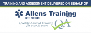Training and assessment delivered on behalf of Allens Training Pty Ltd RTO 90909