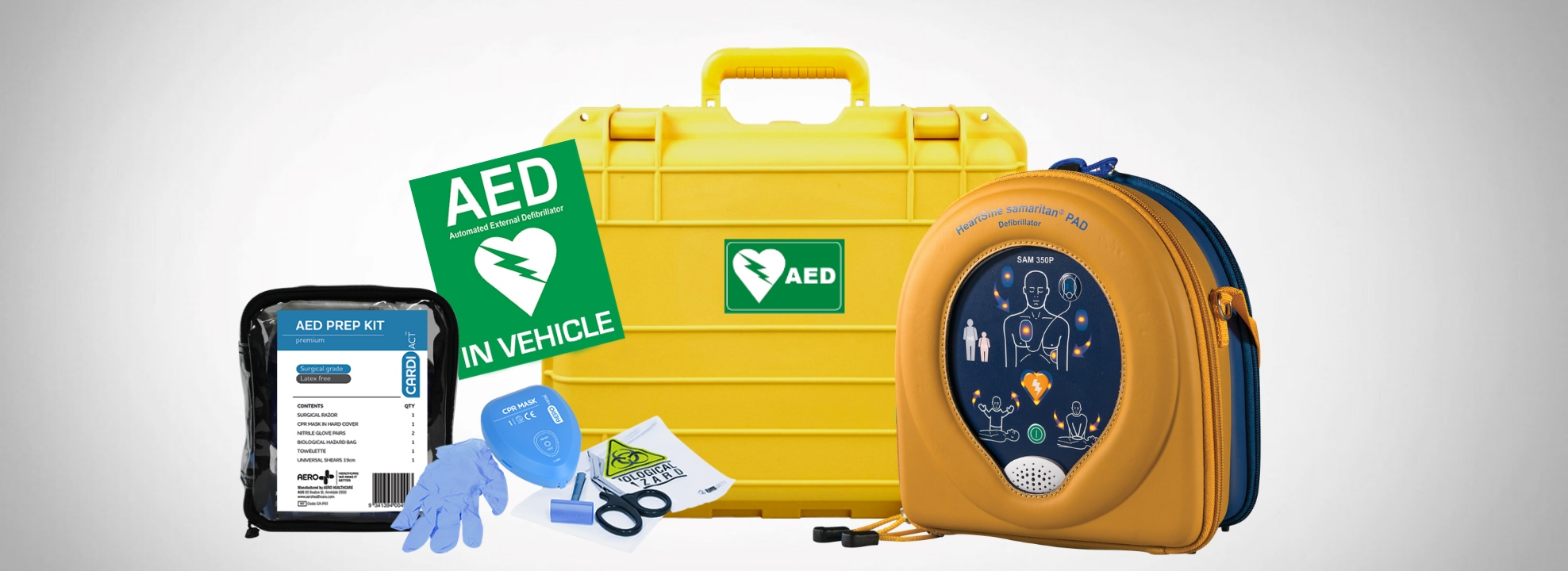 Vehicle & Boaties Defib Package $2,090 with SAM 350P