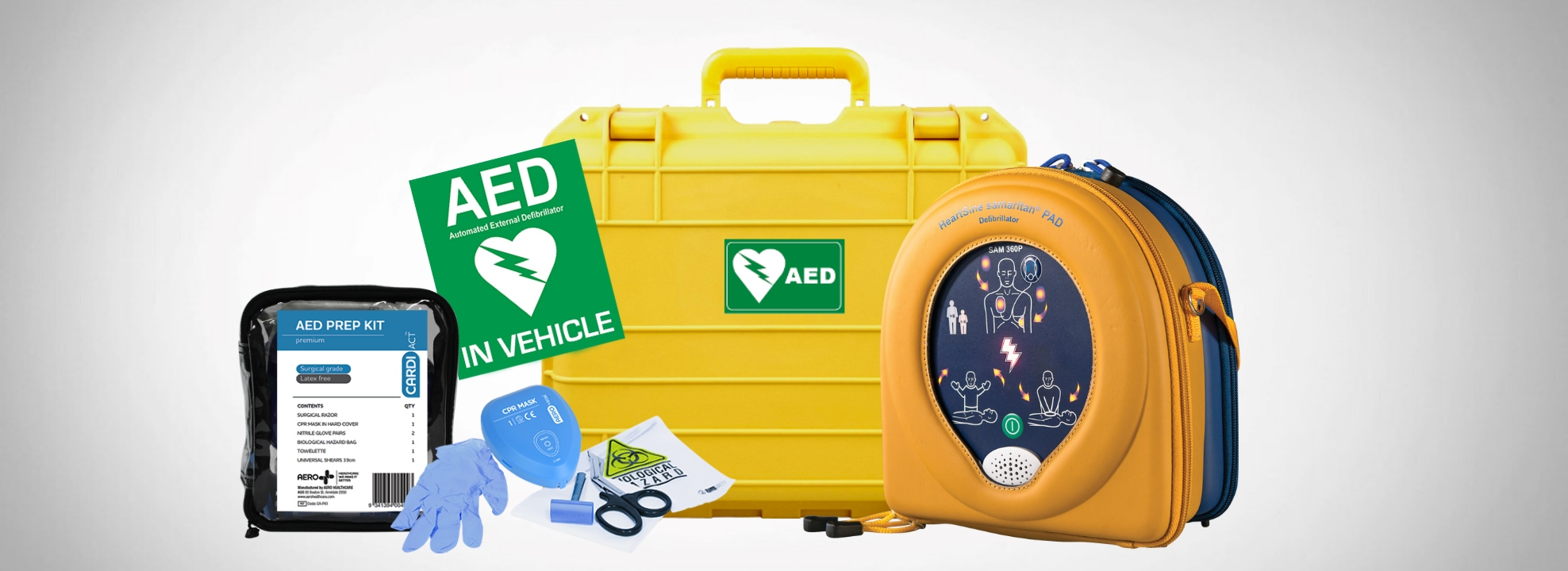 Vehicle & Boaties Defib Package $2,090 with SAM 360P