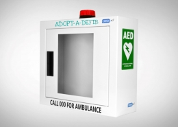 Defibrillator Steel Wall Alarm & Strobe Light Cabinet