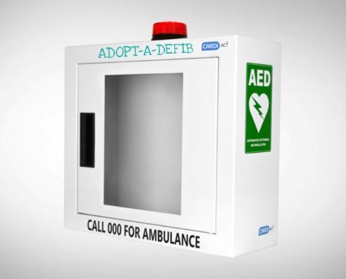 Defibrillator Steel Wall Alarm & Strobe Light Cabinet