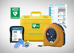Defibrillators for boats and cars