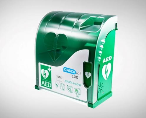 Defibrillator waterproof outdoor alarmed cabinet
